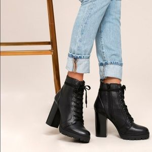 Steve Madden Laurie Combat Boots